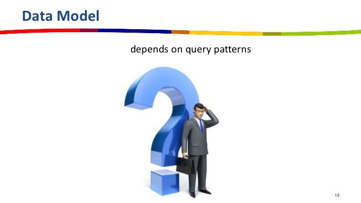 Data Model             depends on query patterns                                         12