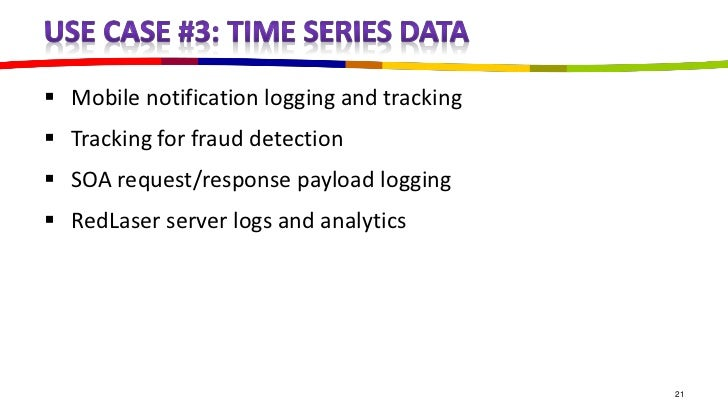  Mobile notification logging and tracking Tracking for fraud detection SOA request/response payload logging RedLaser s...