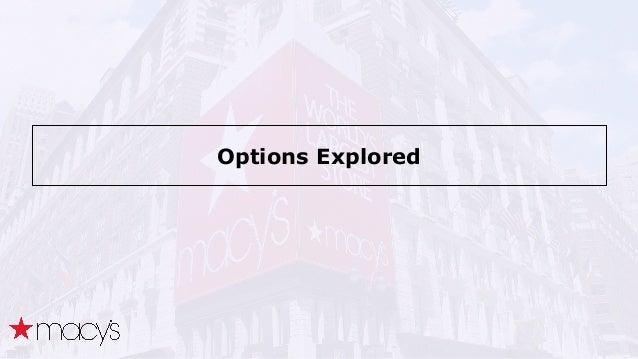 Options Explored