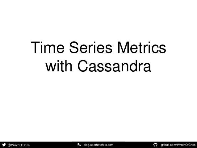 @WrathOfChris github.com/WrathOfChris .blog.wrathofchris.com Time Series Metrics with Cassandra