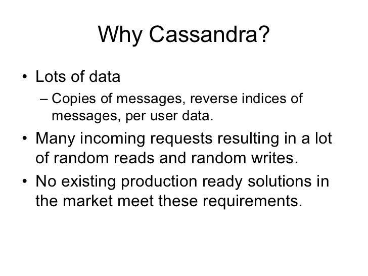 Cassandra presentation at NoSQL Slide 2