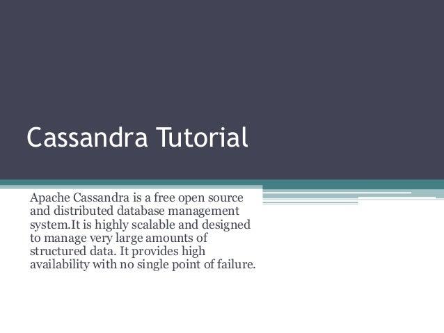 Cassandra tutorial