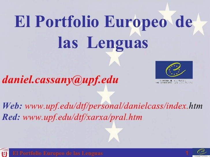 [email_address] Web:   www . upf . edu / dtf /personal/ danielcass / index . htm Red:   www . upf . edu / dtf / xarxa / pr...