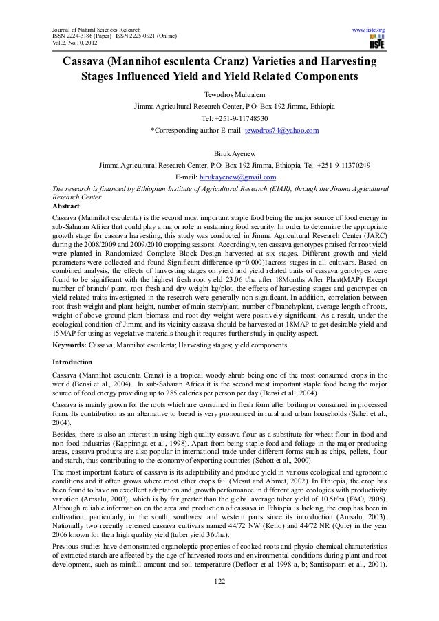 Journal of Natural Sciences Research                                                                  www.iiste.orgISSN 22...