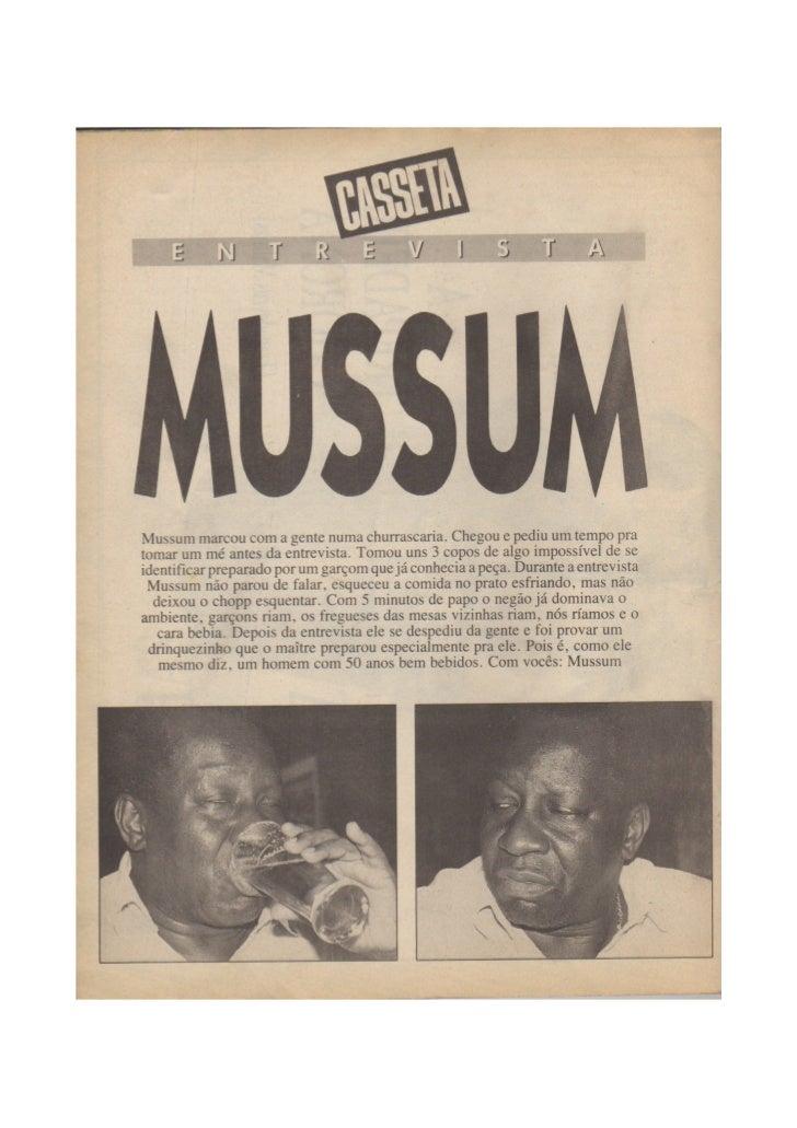 Casseta popular_entrevista_mussum Outubro de 1991