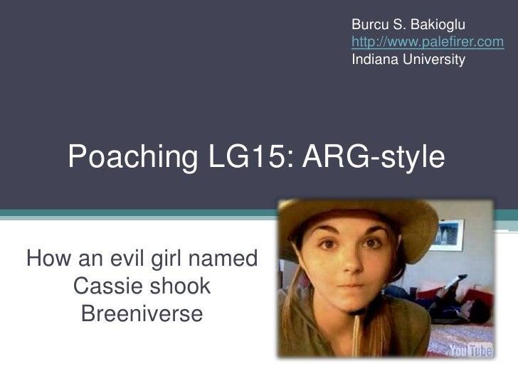 Burcu S. Bakioglu                          http://www.palefirer.com                          Indiana University        Poa...