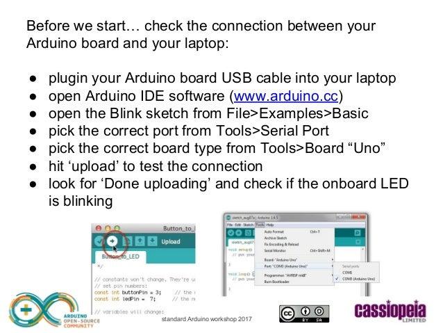 Cassiopeia Ltd - standard Arduino workshop Slide 3