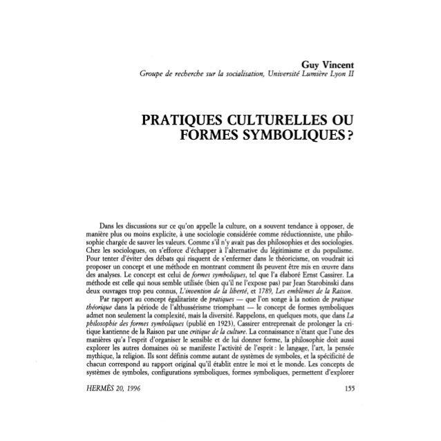 Guy Vincent                   Groupe de recherche sur la socialisation, Université Lumière Lyon II                    PRAT...