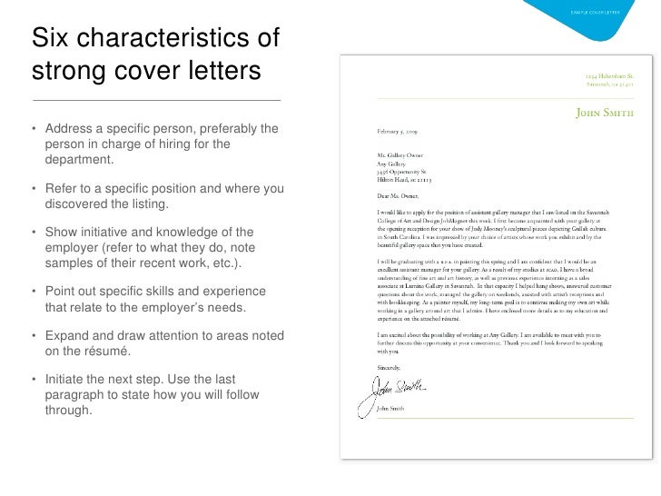 cover letter how to