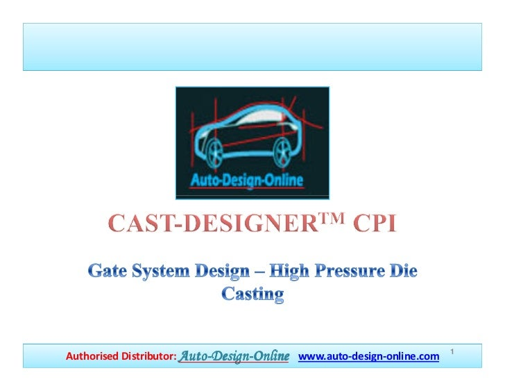 1Authorised Distributor: Auto-Design-Online www.auto-design-online.com                        Auto-Design-
