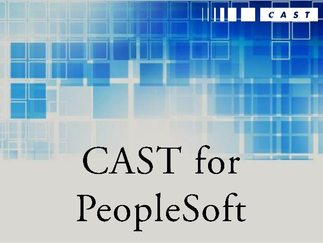 The PeopleSoft Ecosystem PeopleSoft provides multiple solutions, focusing primarily on Human Resources/ Payroll (HRMS), Fi...