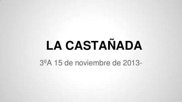 LA CASTAÑADA 3ºA 15 de noviembre de 2013-
