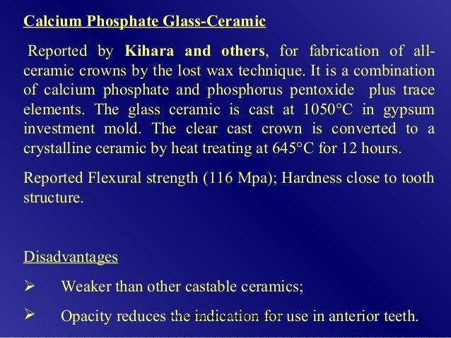 Castable Dental Ceramics Prosthodontic Courses