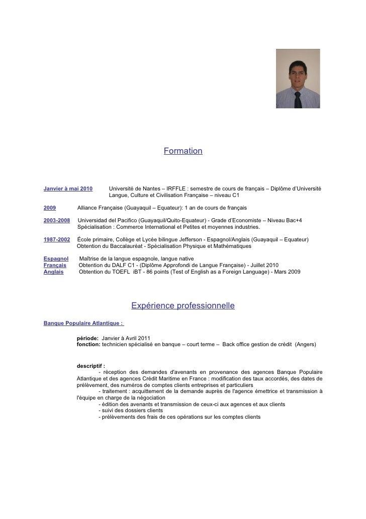 FormationJanvier à mai 2010      Université de Nantes – IRFFLE : semestre de cours de français – Diplôme d'Université     ...