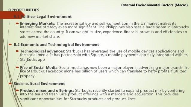 Enviromental factors for starbucks essay