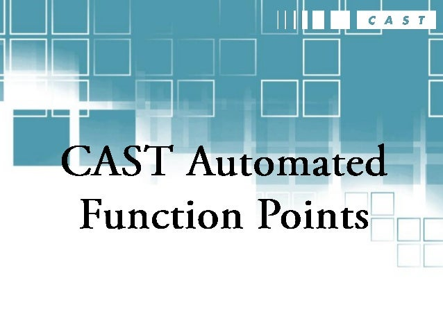 CAST has developed a sophisticated algo- rithm for automatically counting function points. The result of 5 years of intens...
