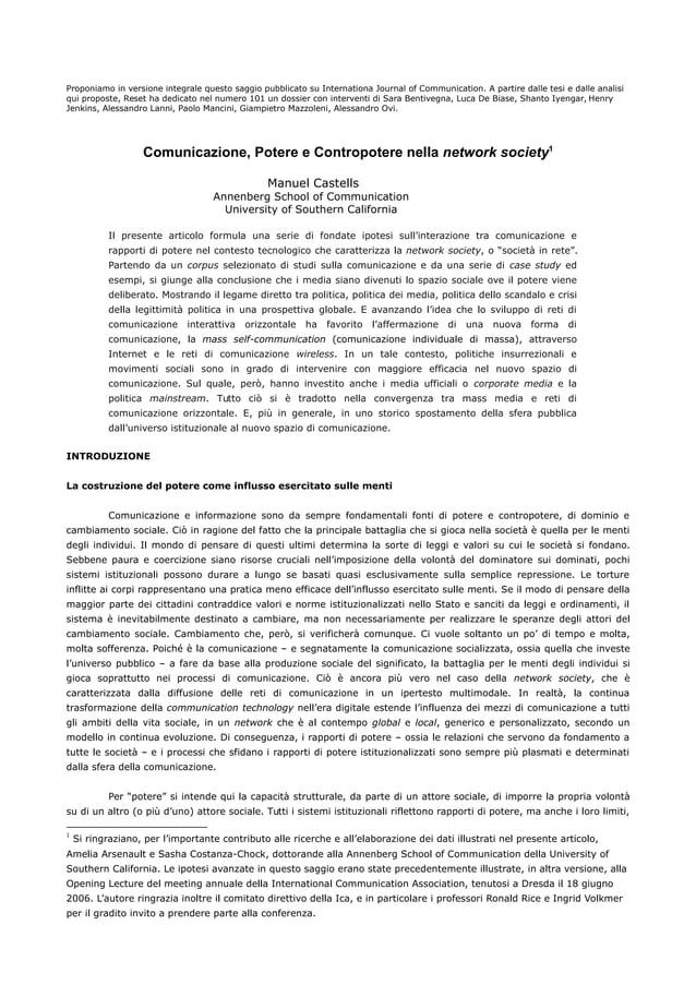 Proponiamo in versione integrale questo saggio pubblicato su Internationa Journal of Communication. A partire dalle tesi e...