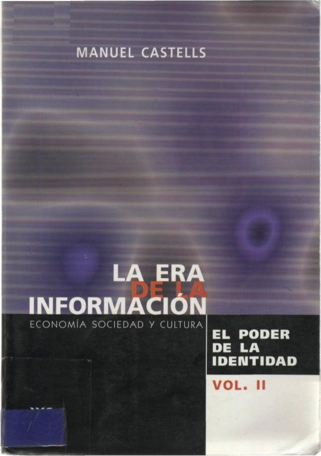 Resultado de imagen para la era de la informacion manuel castells