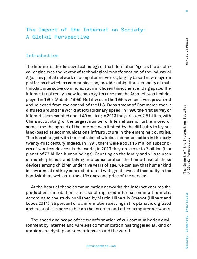 Essay on the Effects of Internet on our Culture!