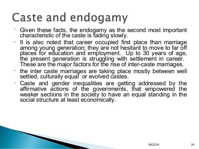 caste endogamy