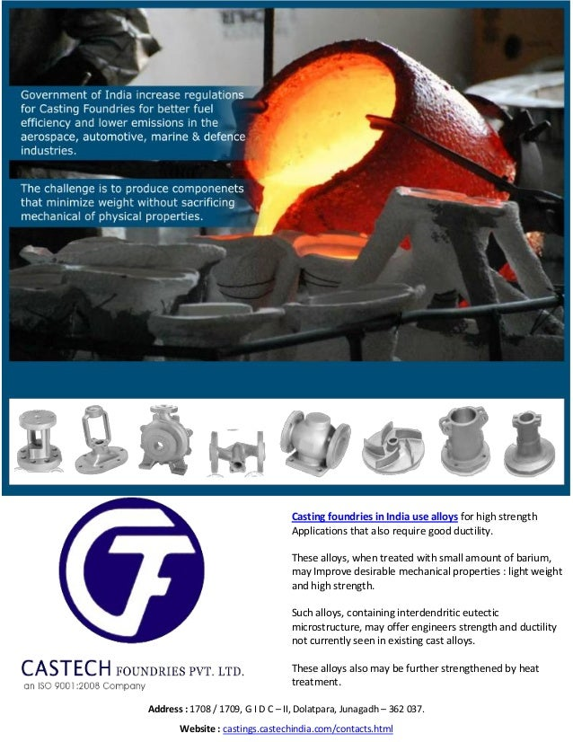 Casting foundries in India use alloys for high strength Applications that also require good ductility. These alloys, when ...