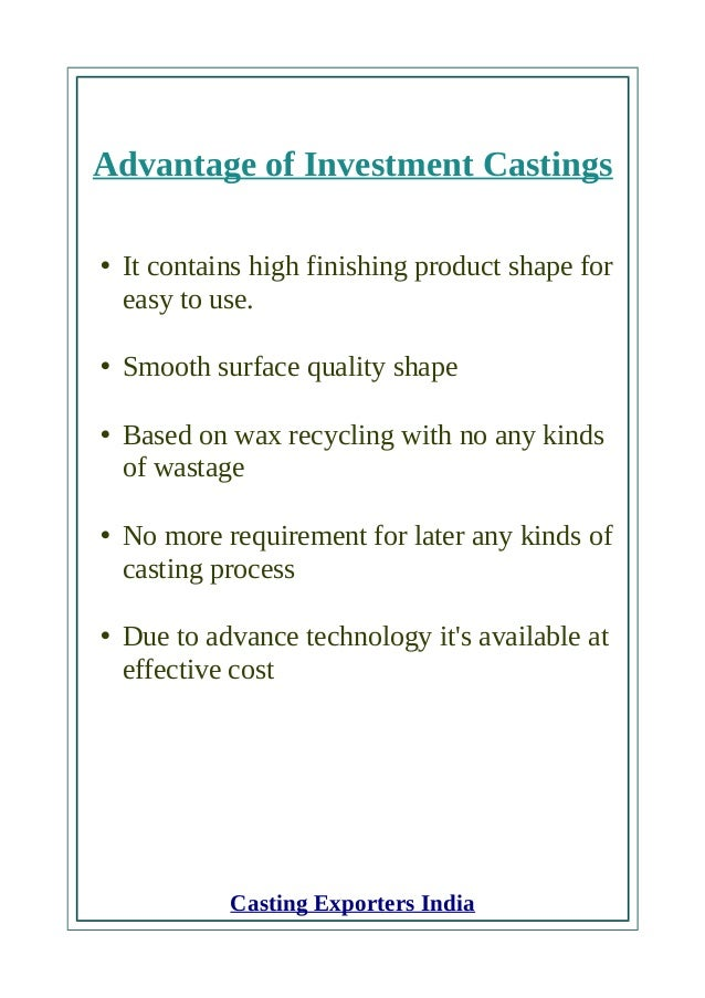 Expert Casting parts manufacturers and exporters in India Slide 2