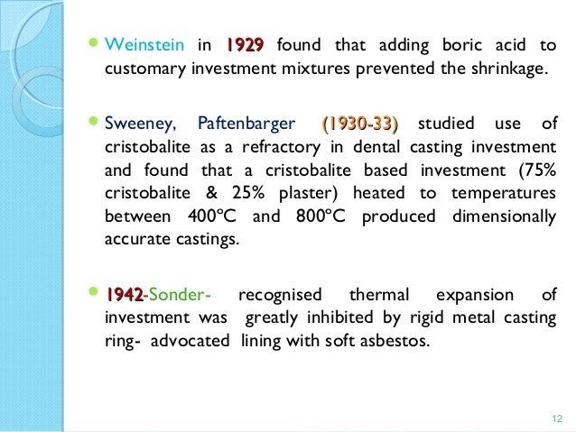 Casting procedures in dentistry for Sonder bureau 13