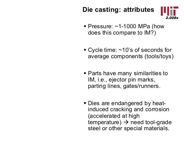 mit casting lecture Date, lecture, textbook readings  dalquist et al, life cycle analysis of  conventional manufacturing techniques: sand casting.