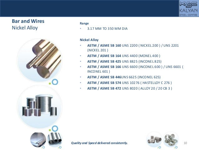 Bar and Wires Nickel Alloy Range • 3.17 MM TO 350 MM DIA Nickel Alloy • ASTM / ASME SB 160 UNS 2200 ( NICKEL 200 ) / UNS 2...