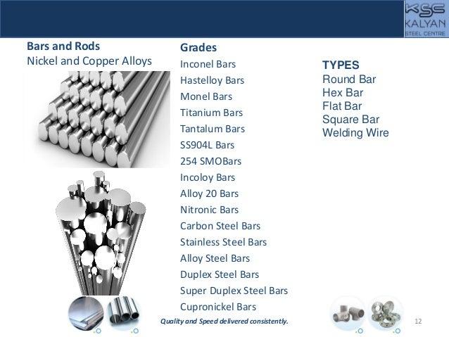 Bars and Rods Nickel and Copper Alloys Grades Inconel Bars Hastelloy Bars Monel Bars Titanium Bars Tantalum Bars SS904L Ba...