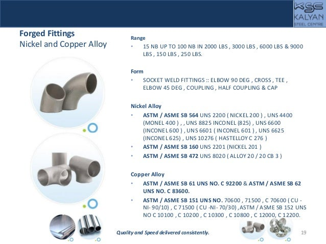 Forged Fittings Nickel and Copper Alloy Range • 15 NB UP TO 100 NB IN 2000 LBS , 3000 LBS , 6000 LBS & 9000 LBS , 150 LBS ...