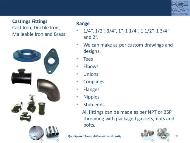 """Castings Fittings Cast Iron, Ductile Iron, Malleable Iron and Brass Range • 1/4"""", 1/2"""", 3/4"""", 1"""", 1 1/4"""", 1 1/2"""", 1 3/4"""" a..."""