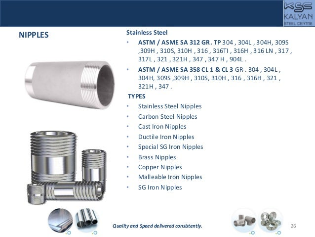 NIPPLES Stainless Steel • ASTM / ASME SA 312 GR. TP 304 , 304L , 304H, 309S ,309H , 310S, 310H , 316 , 316TI , 316H , 316 ...