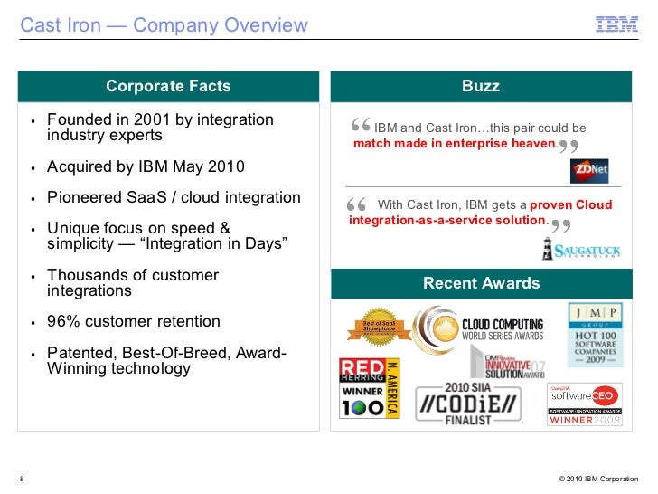 Cast Iron — Company Overview            Corporate Facts                                Buzz    Founded in 2001 by integrat...