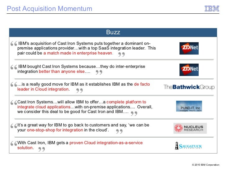 Post Acquisition Momentum                                                 Buzz   IBMs acquisition of Cast Iron Systems put...
