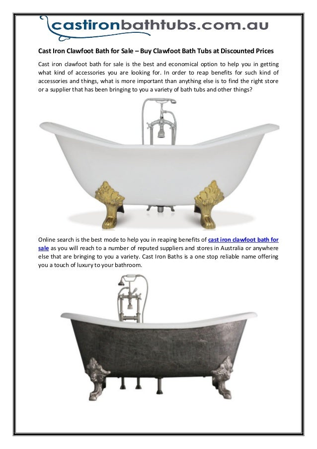 Superb Cast Iron Clawfoot Bath For Sale U2013 Buy Clawfoot Bath Tubs At Discounted Prices  Cast Iron ...