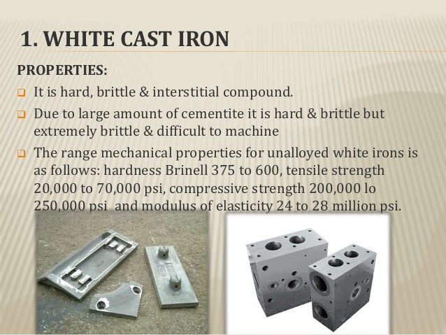 Cast iron its types , properties and its applications