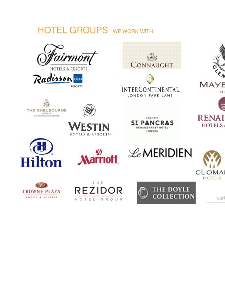 HOTEL GROUPS   WE WORK WITH