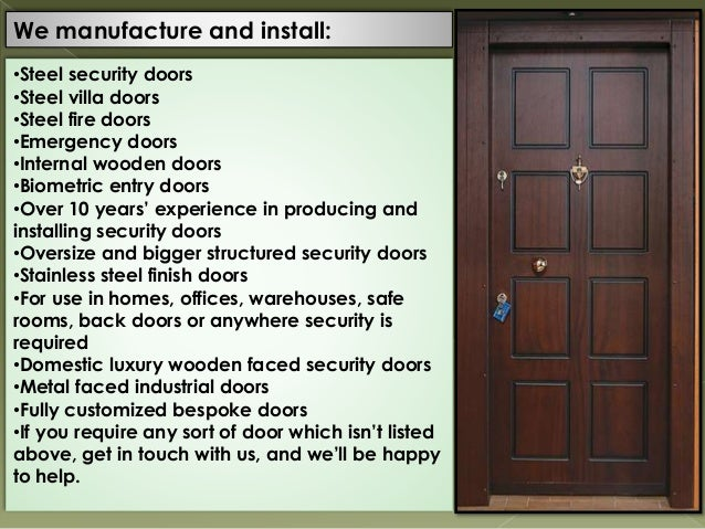 UK based CastleCore provide steel security door systems that prevent …