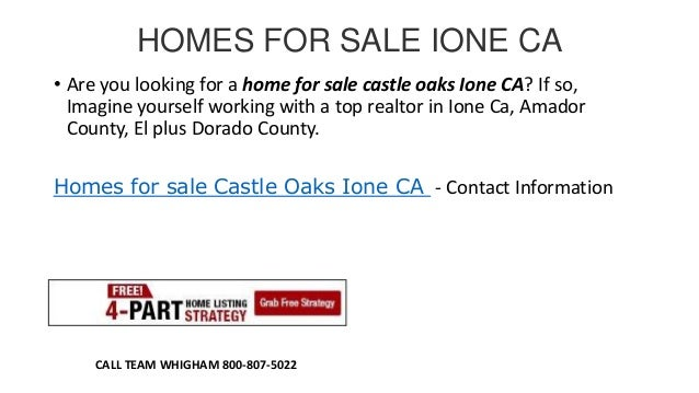 HOMES FOR SALE IONE CA • Are you looking for a home for sale castle oaks Ione CA? If so, Imagine yourself working with a t...