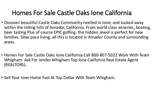 Homes For Sale Castle Oaks Ione California • Discover beautiful Castle Oaks Community nestled in Ione, and tucked away wit...
