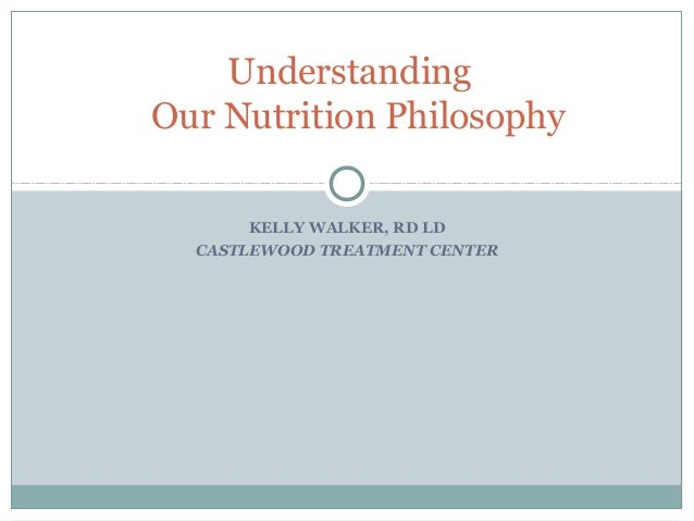 KELLY WALKER, RD LD CASTLEWOOD TREATMENT CENTER Understanding Our Nutrition Philosophy
