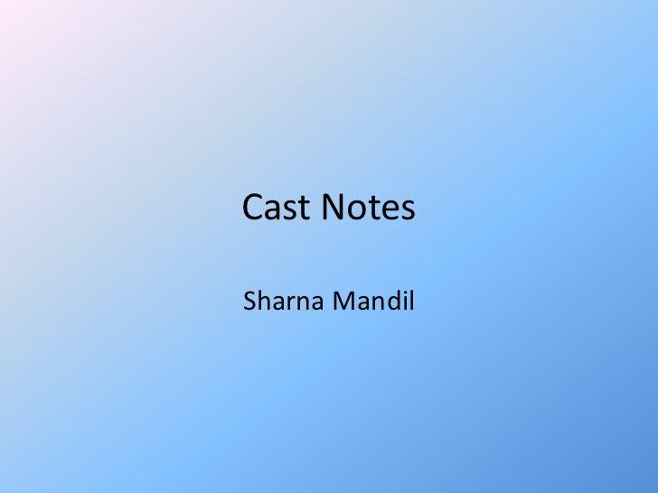 Cast NotesSharna Mandil