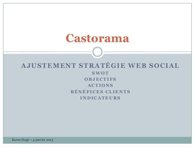 Castorama      AJUSTEMENT STRATÉGIE WEB SOCIAL                                    SWOT                                 OBJ...