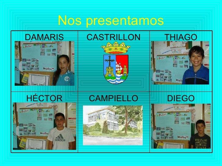 Nos presentamos DIEGO CAMPIELLO HÉCTOR THIAGO CASTRILLON DAMARIS