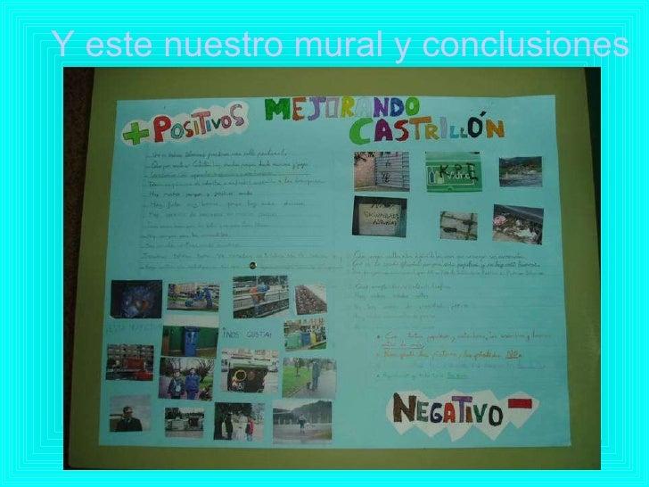 Y este nuestro mural y conclusiones