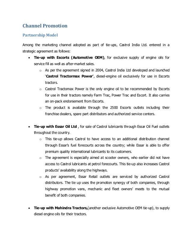 Castrol sales & distribution mgmt