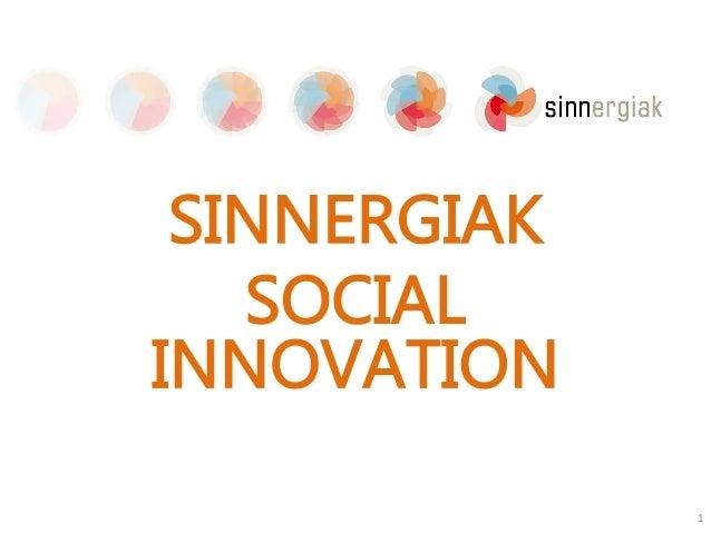 SINNERGIAK SOCIAL INNOVATION 1