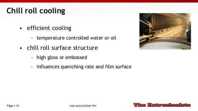 Page  12 Chill roll cooling • efficient cooling - temperature controlled water or oil • chill roll surface structure - hi...