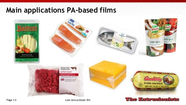 Page  3 Main applications PA-based films cast versus blown film